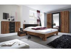 VIERA ložnice s postelí 180x200, dub monastery/černá