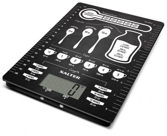 Salter Digitálna kuchynská váha design jednotky