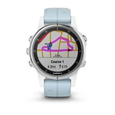 Garmin zegarek Fenix  5S Plus White, Seafoam band
