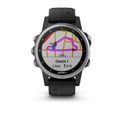 Garmin zegarek Fenix 5S Plus Silver, Black band