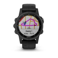 Garmin Smartwatch Fénix 5S Plus Sapphire, Black, Black band
