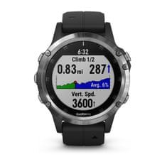 Garmin Smartwatch Fénix 5 Plus, Silver, Black band