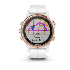 Garmin Smartwatch Fénix 5S Plus Sapphire, Rose Gold, White band