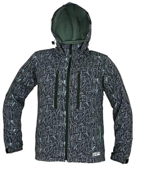 CRV LUTTON softshellová bunda černá L