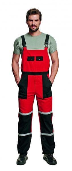 Červa TAYRA kalhoty s laclem červená 56