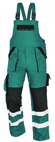 Červa MAX RFLX kalhoty s laclem zelená 56