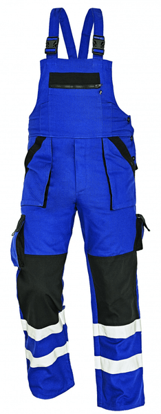 Červa MAX RFLX kalhoty s laclem modrá/černá 56
