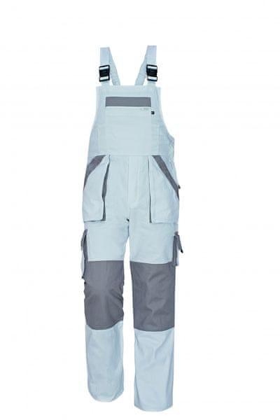 Červa MAX kalhoty s laclem bílá/šedá 56