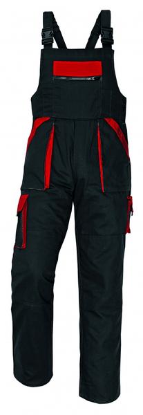 Červa MAX kalhoty s laclem černá/červená 56