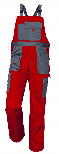 Červa MAX EVOLUTION kalhoty s laclem červená/antracitová 56