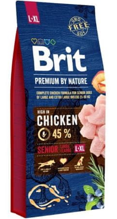 Brit hrana za pse Premium by Nature Senior L/XL, 3 kg