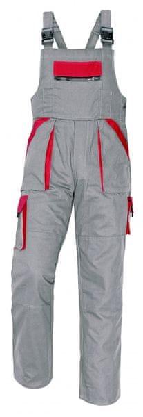 Červa MAX kalhoty s laclem šedá/červená 56