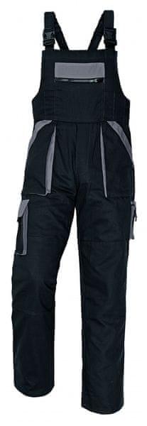 Červa MAX kalhoty s laclem černá/šedá 56