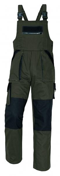 Červa MAX kalhoty s laclem hnědá 56