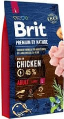 Brit hrana za pse Premium by Nature Adult L, 8 kg