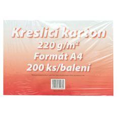 Karton kreslicí bílý A4 220 g / 200 l.