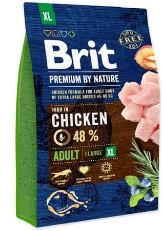 Brit hrana za pse Premium by Nature Adult XL, 3 kg