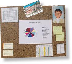 Nástěnka - tabule samolepicí 46 x 58,5 cm korek