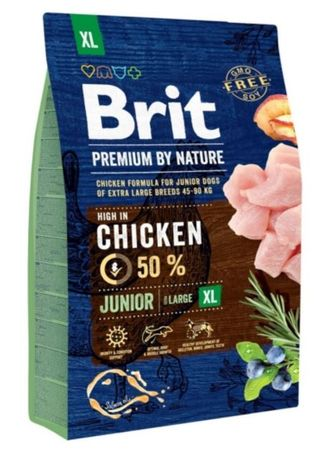 Brit hrana za pasje mladiče Premium by Nature Junior XL, 3 kg