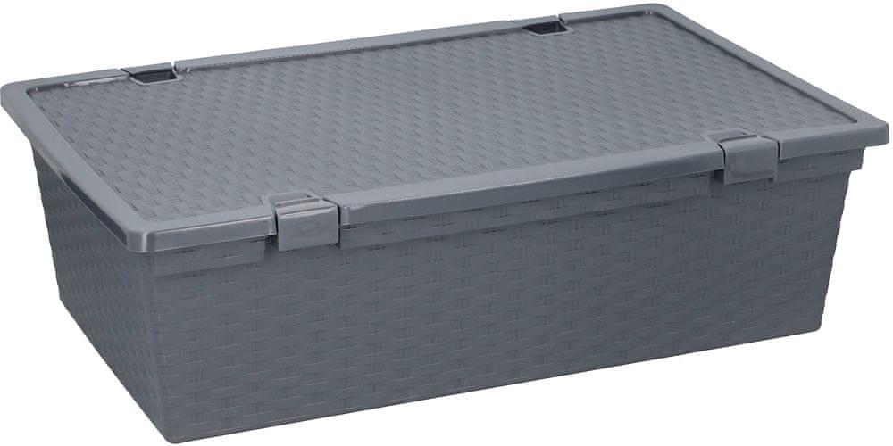 TimeLife Úložný box 30 l, šedá