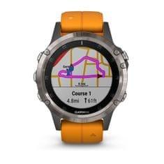 Garmin Smartwatch Fénix 5 Plus Sapphire, Titanium, Orange band