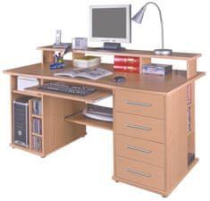 Praktický PC stůl FRANC, buk