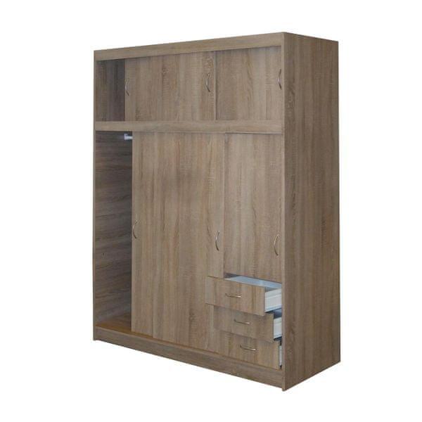 Skříň s posuvnými dveřmi SS53000, dub sonoma