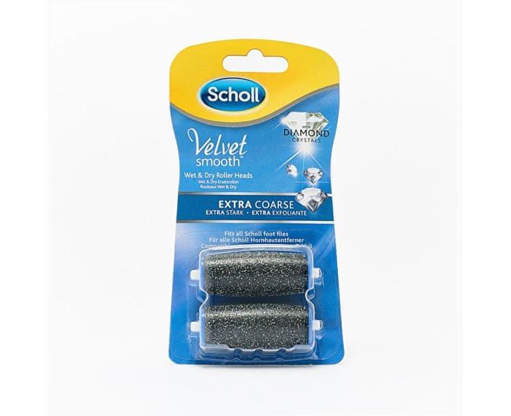 Scholl Náhradní hlavice do elektrického pilníku Velvet Smooth Diamond extra hrubé 2 ks