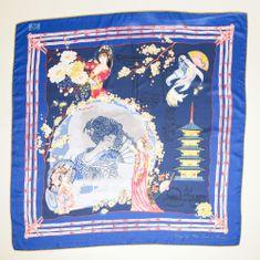 VERSACE 19.69 dámský tmavě modrý šátek Geisa Dream