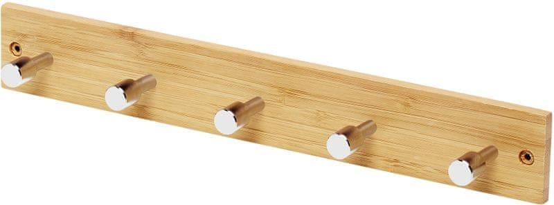 TimeLife Věšák na dveře Bambus 5 háčků