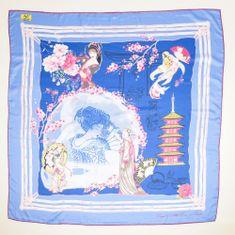 VERSACE 19.69 ženski šal Geisa Dream, moder