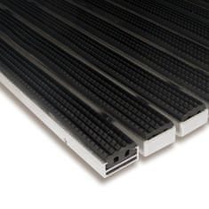 FLOMAT Gumová hliníková venkovní vstupní rohož Alu Standard, FLOMAT - 1,7 cm