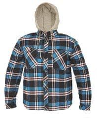 d130ecf68b CRV Flanelová košeľa s kapucňou Lucan modrá S