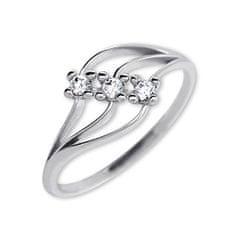 Brilio Dámský prsten s krystaly 229 001 00546 07 - 1,35 g zlato bílé 585/1000