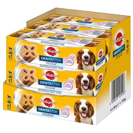 Pedigree pałeczka do żucia Denta Stix TW Weekly M, 9 x 80 g