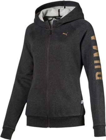 Puma Athletic Fz Hoody Fl Dark Gray Heather B XS
