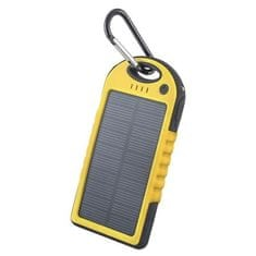 Forever PB-016 TFO POWERBANK SOLAR 5000 mAh, YELLOW BAEPOWER5000SOYE