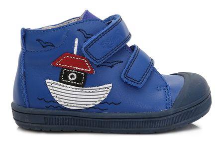 Ponte 20 otroški usnjeni čevlji s čolnom, 22, modri