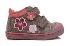 Ponte 20 dekliški usnjeni čevlji s cvetjem