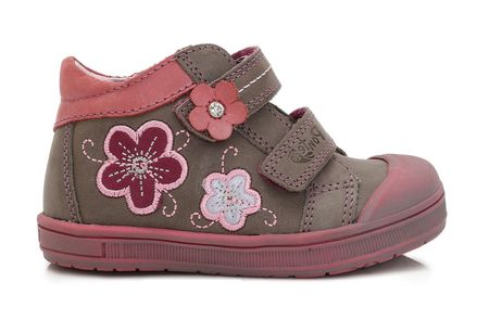Ponte 20 dekliški usnjeni čevlji s cvetjem, 22, rjavi