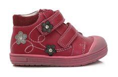 Ponte 20 dívčí kožené boty s kytičkami