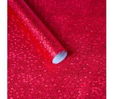 Giftisimo Luxusní strukturovaný balicí papír, červený, vzor cihličky, 5 archů