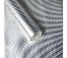 Giftisimo Luxusní strukturovaný balicí papír, stříbrný, vzor mini káry, 5 archů
