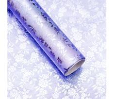 Giftisimo Luxusní strukturovaný balicí papír, lila, vzor květiny, 5 archů