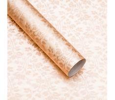 Giftisimo Luxusní strukturovaný balicí papír, krémový, vzor lístky, 5 archů