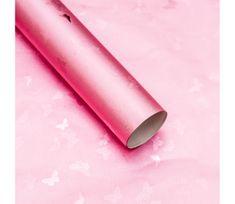 Giftisimo Luxusní strukturovaný balicí papír, růžový, vzor motýli, 5 archů