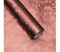 Giftisimo Luxusní strukturovaný balicí papír, hnědý, vzor baroko, 5 archů