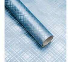 Giftisimo Luxusní strukturovaný balicí papír, světle modrý, vzor károvaný, 5 archů