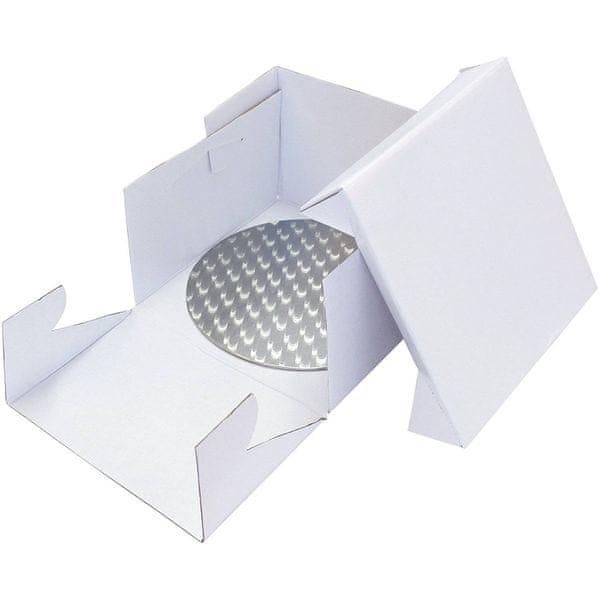 PME Podložka dortová stříbrná kruh průměr 33,5cm+ dortová krabice