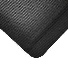 Černá gumová protiúnavová průmyslová rohož - 1 cm